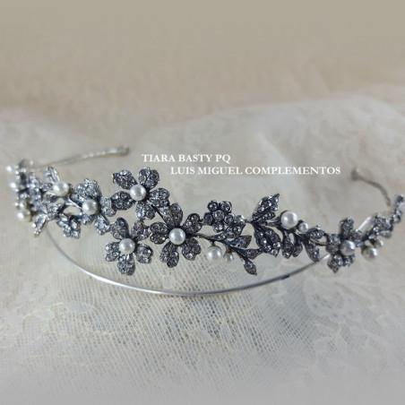 Tiara Basty Pq. plata & swarovski