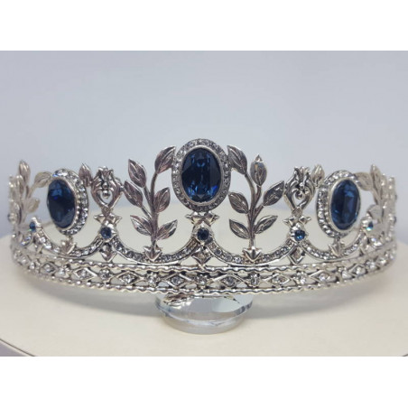Tiara y Rusia Swarovski, Azul Zafiro