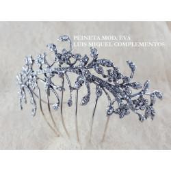PEINETA EVA, plata & swarovski