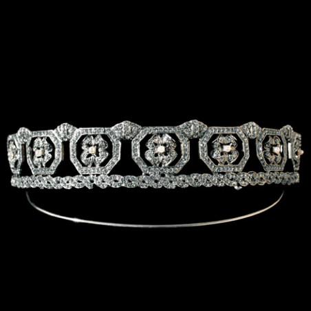 tiara salem, plata & swarovski